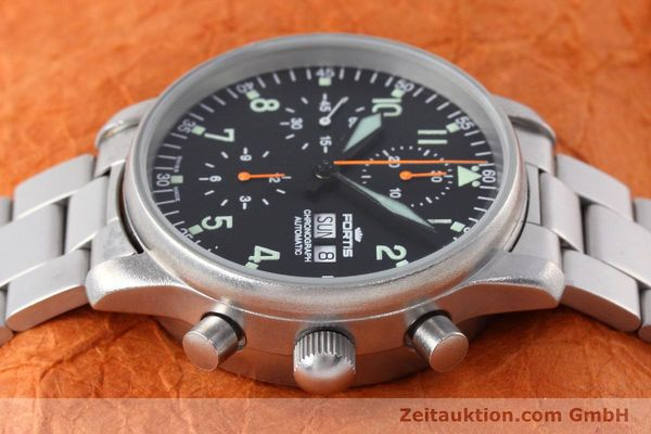 Used luxury watch Fortis Flieger Chronograph chronograph steel automatic Kal. ETA 7750 Ref. 597.10.141  | 152589 05