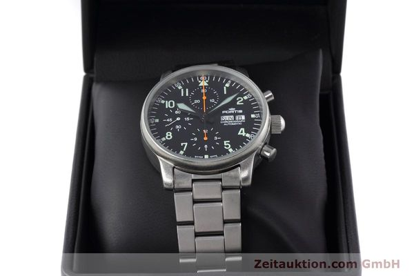 Used luxury watch Fortis Flieger Chronograph chronograph steel automatic Kal. ETA 7750 Ref. 597.10.141  | 152589 07