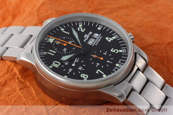 Used luxury watch Fortis Flieger Chronograph chronograph steel automatic Kal. ETA 7750 Ref. 597.10.141  | 152589 13