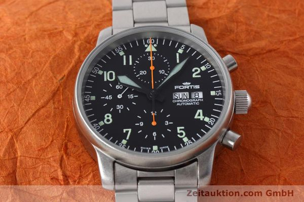 Used luxury watch Fortis Flieger Chronograph chronograph steel automatic Kal. ETA 7750 Ref. 597.10.141  | 152589 14
