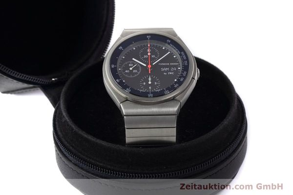 Used luxury watch IWC Porsche Design chronograph titanium automatic Kal. 790 Ref. 3702  | 152592 07