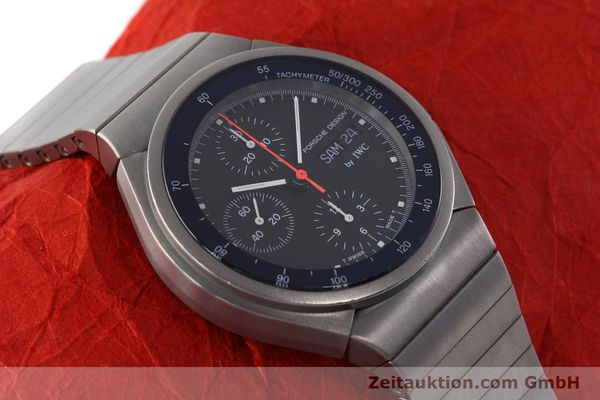 Used luxury watch IWC Porsche Design chronograph titanium automatic Kal. 790 Ref. 3702  | 152592 14