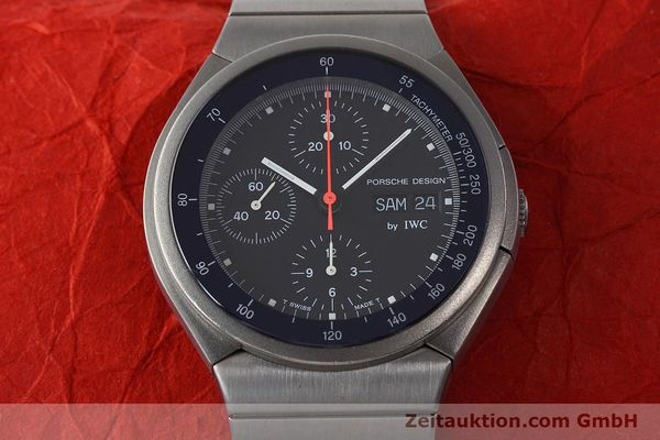 Used luxury watch IWC Porsche Design chronograph titanium automatic Kal. 790 Ref. 3702  | 152592 15