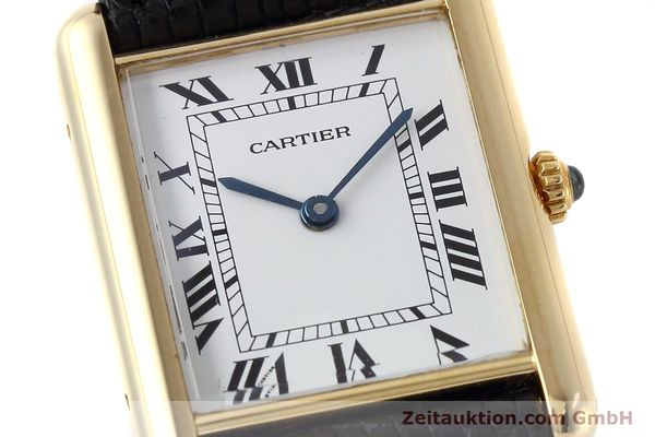Used luxury watch Cartier Tank 18 ct gold quartz Kal. 90.09 Ref. 2426  | 152611 02