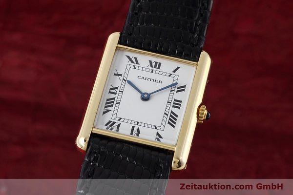 Used luxury watch Cartier Tank 18 ct gold quartz Kal. 90.09 Ref. 2426  | 152611 04