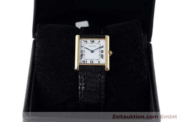 Used luxury watch Cartier Tank 18 ct gold quartz Kal. 90.09 Ref. 2426  | 152611 07