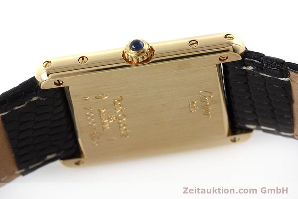 Used luxury watch Cartier Tank 18 ct gold quartz Kal. 90.09 Ref. 2426  | 152611 08