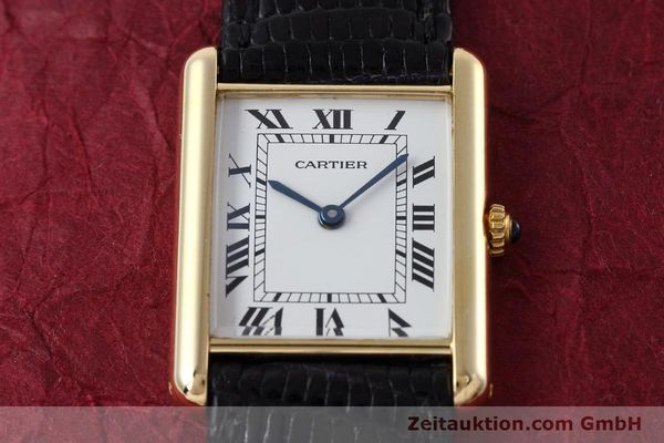 Used luxury watch Cartier Tank 18 ct gold quartz Kal. 90.09 Ref. 2426  | 152611 14