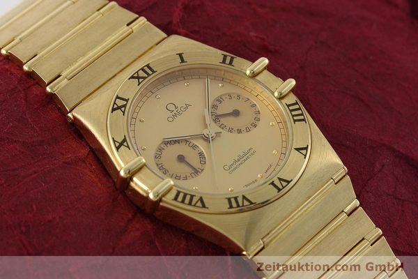 Used luxury watch Omega Constellation 18 ct gold quartz Kal. 1444 Ref. 198.0142  | 152612 14