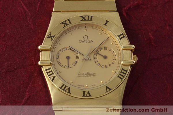 Used luxury watch Omega Constellation 18 ct gold quartz Kal. 1444 Ref. 198.0142  | 152612 15