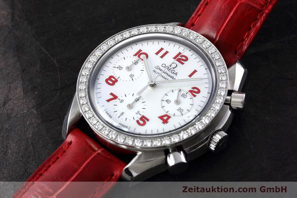 Used luxury watch Omega Speedmaster chronograph steel automatic Kal. 3220 Ref. 275.0032  | 152619 01