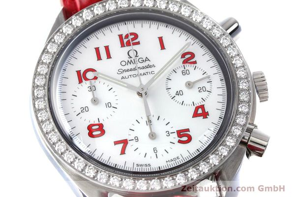 Used luxury watch Omega Speedmaster chronograph steel automatic Kal. 3220 Ref. 275.0032  | 152619 02