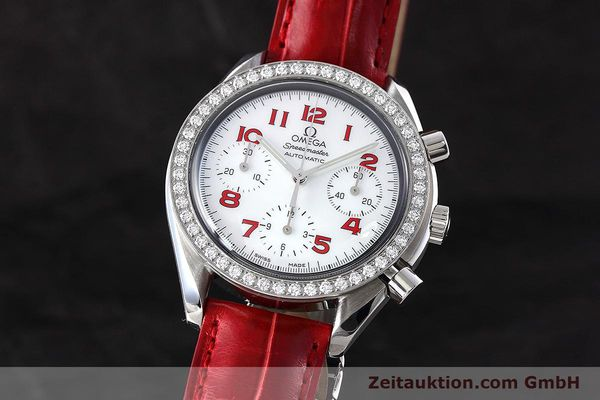 Used luxury watch Omega Speedmaster chronograph steel automatic Kal. 3220 Ref. 275.0032  | 152619 04