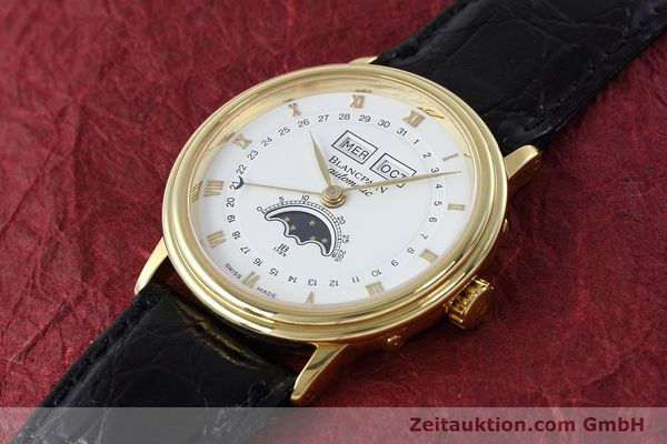 Used luxury watch Blancpain Villeret 18 ct gold automatic Kal. 6553  | 152620 01