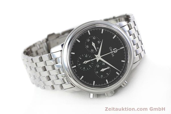 Used luxury watch Omega De Ville chronograph steel manual winding Kal. 861 Ref. 48405101  | 152622 03