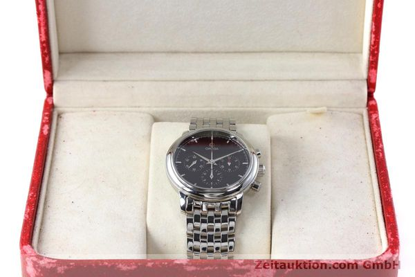 Used luxury watch Omega De Ville chronograph steel manual winding Kal. 861 Ref. 48405101  | 152622 07