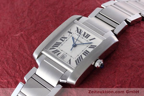 Used luxury watch Cartier Tank Francaise steel automatic Kal. 120 ETA 2000-1 Ref. 2302  | 152623 01