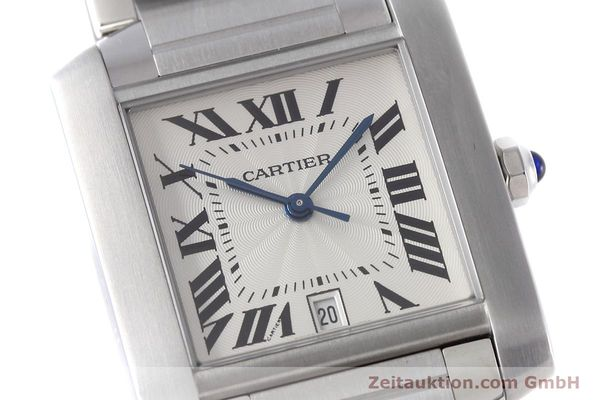 Used luxury watch Cartier Tank Francaise steel automatic Kal. 120 ETA 2000-1 Ref. 2302  | 152623 02