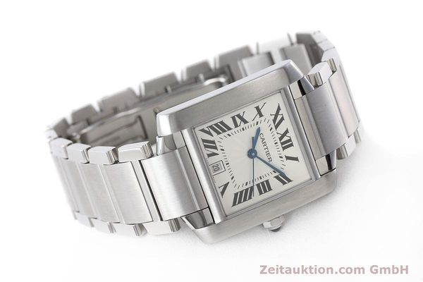 Used luxury watch Cartier Tank Francaise steel automatic Kal. 120 ETA 2000-1 Ref. 2302  | 152623 03