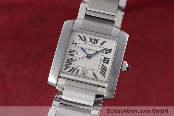 Used luxury watch Cartier Tank Francaise steel automatic Kal. 120 ETA 2000-1 Ref. 2302  | 152623 04