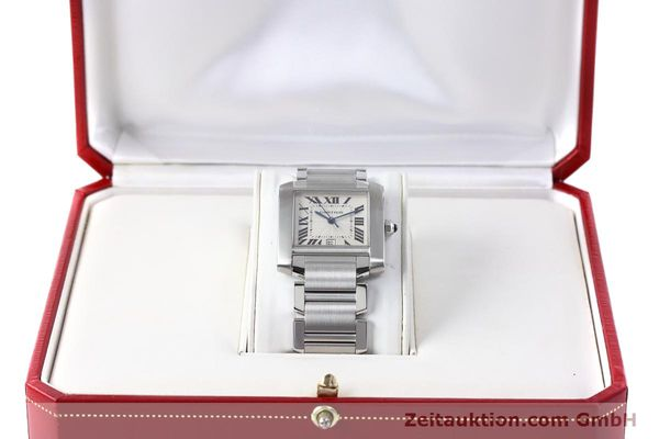 Used luxury watch Cartier Tank Francaise steel automatic Kal. 120 ETA 2000-1 Ref. 2302  | 152623 07