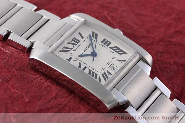 Used luxury watch Cartier Tank Francaise steel automatic Kal. 120 ETA 2000-1 Ref. 2302  | 152623 15