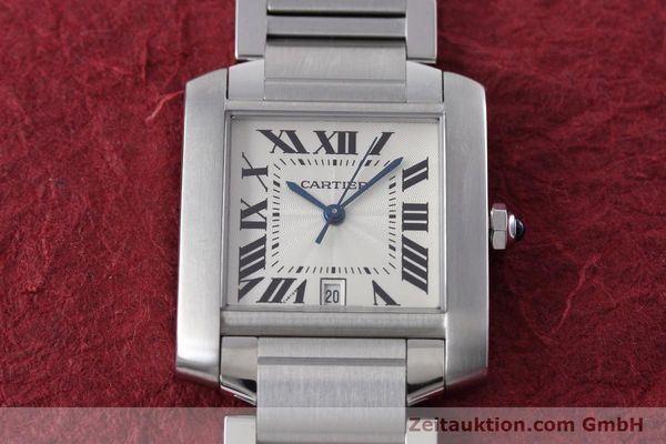 Used luxury watch Cartier Tank Francaise steel automatic Kal. 120 ETA 2000-1 Ref. 2302  | 152623 16