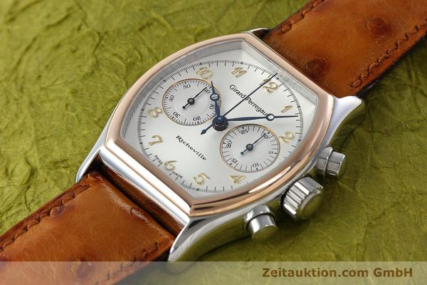 Used luxury watch Girard Perregaux Richeville chronograph steel / gold manual winding Kal. LWO 1872 Ref. 2710  | 152626 01