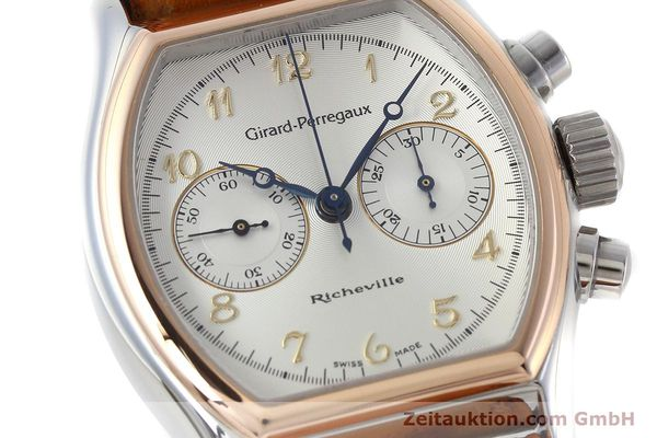 Used luxury watch Girard Perregaux Richeville chronograph steel / gold manual winding Kal. LWO 1872 Ref. 2710  | 152626 02