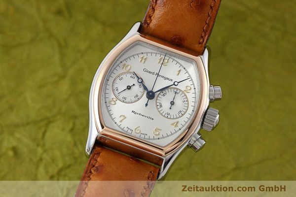 Used luxury watch Girard Perregaux Richeville chronograph steel / gold manual winding Kal. LWO 1872 Ref. 2710  | 152626 04