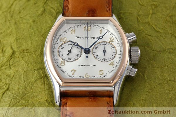 Used luxury watch Girard Perregaux Richeville chronograph steel / gold manual winding Kal. LWO 1872 Ref. 2710  | 152626 17