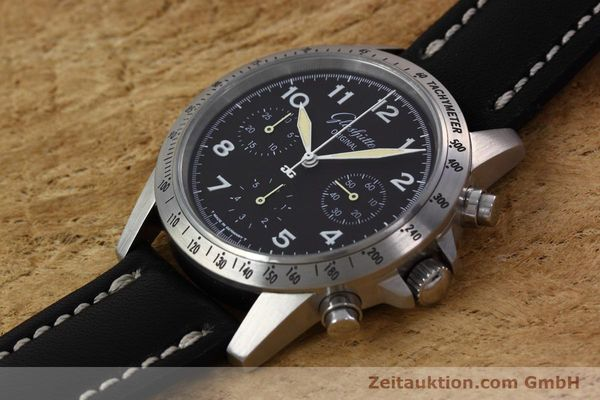 Used luxury watch Glashütte Navigator chronograph steel automatic Kal. GUB 10-60  | 152637 01