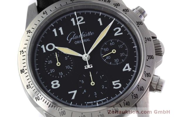 Used luxury watch Glashütte Navigator chronograph steel automatic Kal. GUB 10-60  | 152637 02