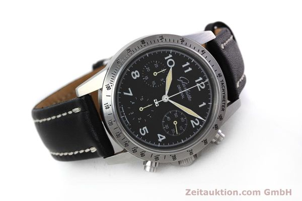 Used luxury watch Glashütte Navigator chronograph steel automatic Kal. GUB 10-60  | 152637 03