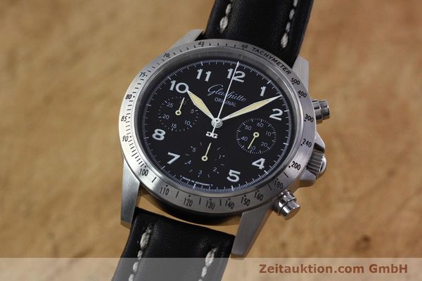 Used luxury watch Glashütte Navigator chronograph steel automatic Kal. GUB 10-60  | 152637 04