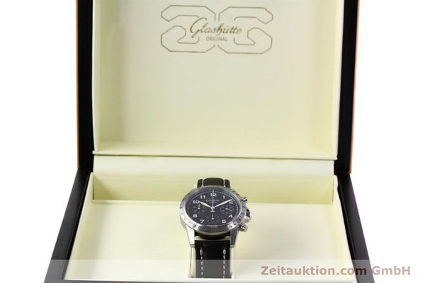 Used luxury watch Glashütte Navigator chronograph steel automatic Kal. GUB 10-60  | 152637 07