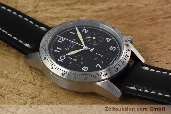 Used luxury watch Glashütte Navigator chronograph steel automatic Kal. GUB 10-60  | 152637 13
