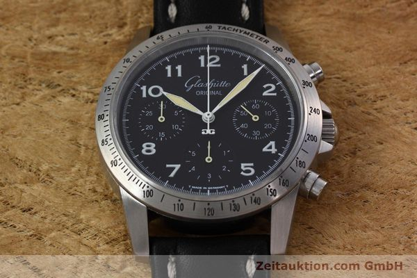 Used luxury watch Glashütte Navigator chronograph steel automatic Kal. GUB 10-60  | 152637 14