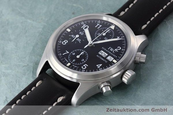 Used luxury watch IWC Fliegerchronograph chronograph steel automatic Kal. 7912 Ref. 3706  | 152641 01