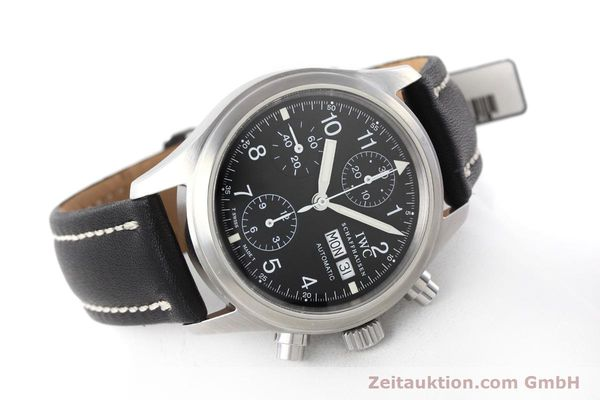 Used luxury watch IWC Fliegerchronograph chronograph steel automatic Kal. 7912 Ref. 3706  | 152641 03