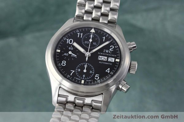 Used luxury watch IWC Fliegerchronograph chronograph steel automatic Kal. 7912 Ref. 3706  | 152641 04
