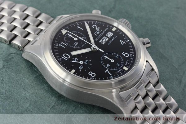 Used luxury watch IWC Fliegerchronograph chronograph steel automatic Kal. 7912 Ref. 3706  | 152641 16