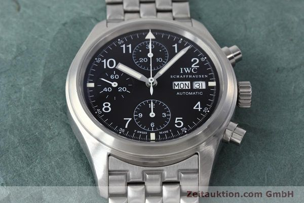 Used luxury watch IWC Fliegerchronograph chronograph steel automatic Kal. 7912 Ref. 3706  | 152641 17