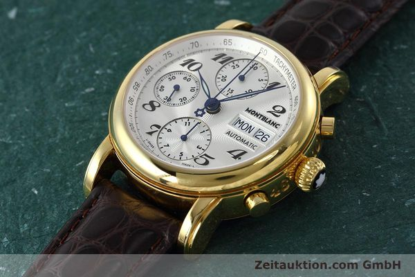 Used luxury watch Montblanc Meisterstück chronograph gold-plated automatic Kal. ETA 7750 Ref. 7016  | 152645 01