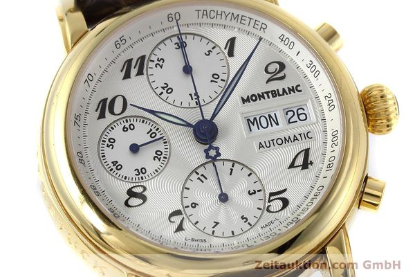 Used luxury watch Montblanc Meisterstück chronograph gold-plated automatic Kal. ETA 7750 Ref. 7016  | 152645 02