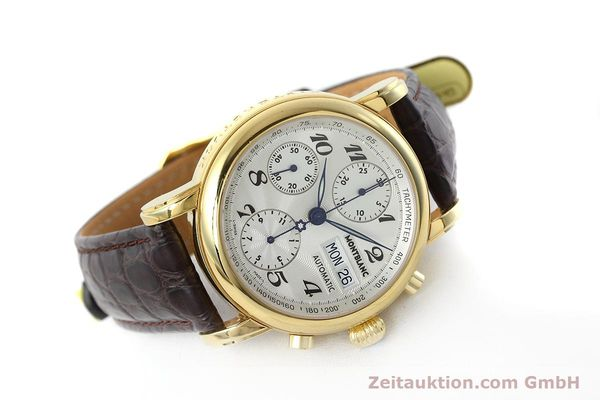 Used luxury watch Montblanc Meisterstück chronograph gold-plated automatic Kal. ETA 7750 Ref. 7016  | 152645 03