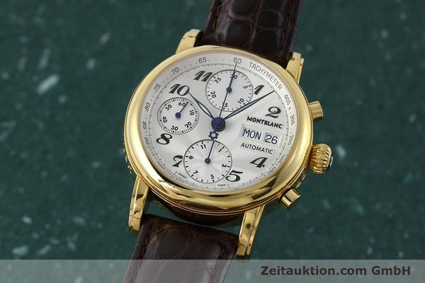 Used luxury watch Montblanc Meisterstück chronograph gold-plated automatic Kal. ETA 7750 Ref. 7016  | 152645 04