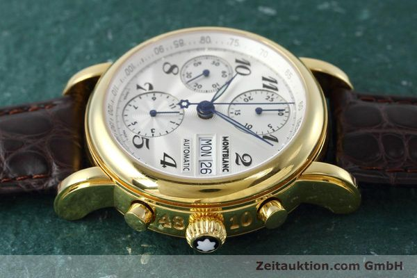 Used luxury watch Montblanc Meisterstück chronograph gold-plated automatic Kal. ETA 7750 Ref. 7016  | 152645 05