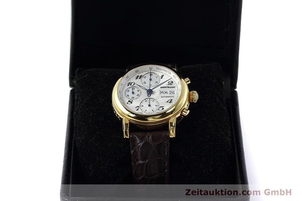 Used luxury watch Montblanc Meisterstück chronograph gold-plated automatic Kal. ETA 7750 Ref. 7016  | 152645 07