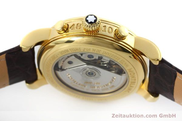 Used luxury watch Montblanc Meisterstück chronograph gold-plated automatic Kal. ETA 7750 Ref. 7016  | 152645 08